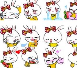 乐乐兔可爱QQ表情 官方版