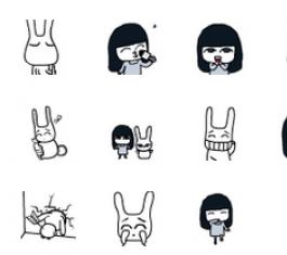 小女巫闹闹和兔子盖盖QQ表情包 官方版