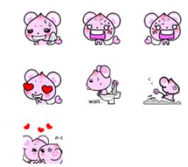 桃小鼠可爱QQ表情包 官方版
