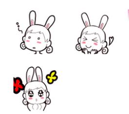 兔耳朵女孩Shawli可爱QQ表情包 官方版