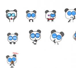 眼镜熊猫搞怪QQ表情 官方版