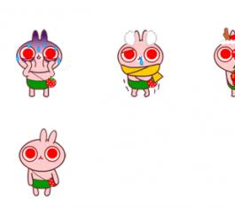 红眼toto兔可爱QQ表情包 官方版