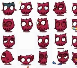 猫头鹰纠纠QQ表情包 免费版