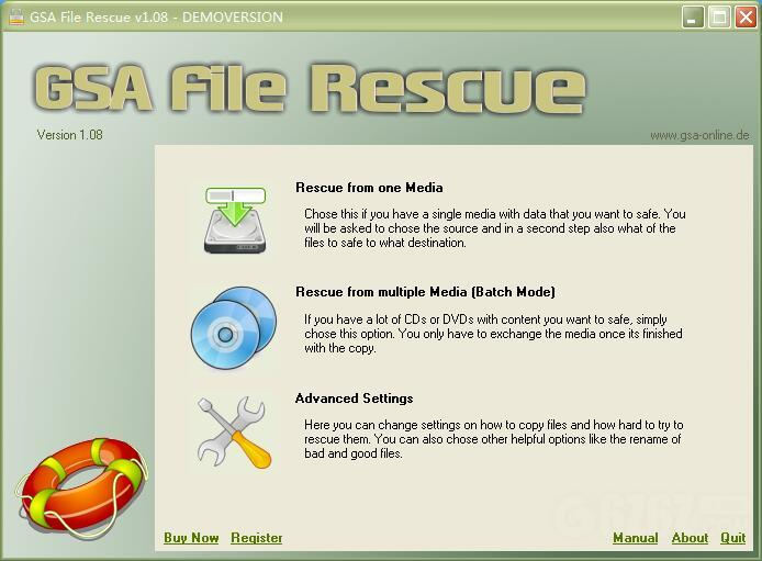 GSA File Rescue