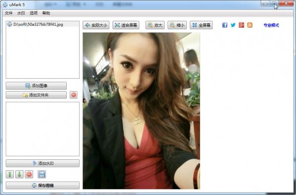 uMark(批量添加文字图片水印)v5.8中文绿色版