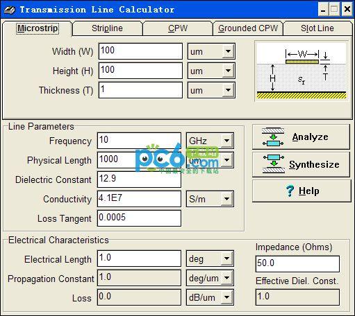 PCB线宽计算软件(transmission line calculator)1.1绿色免费版