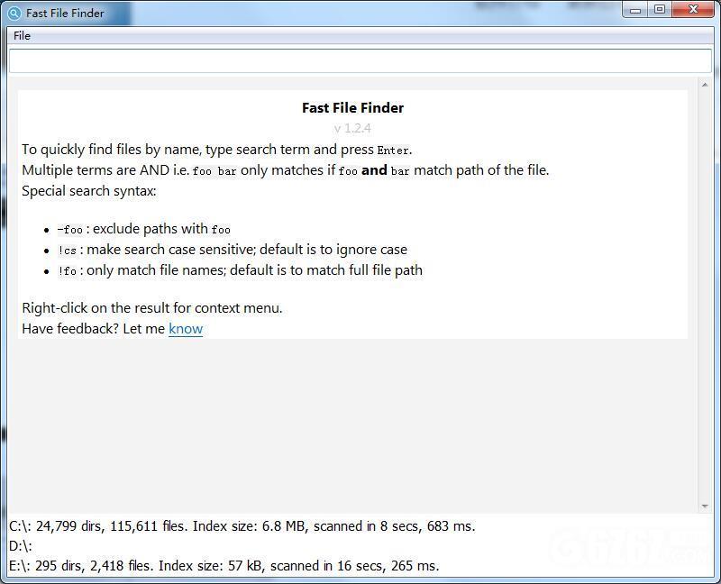 Fast File Finder
