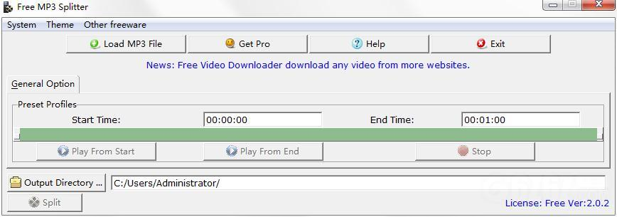 Free MP3 Splitter